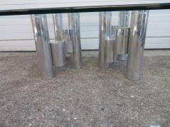 Paul Mayen Stunning Paul Mayen Habitat Aluminum Cylinder Coffee Table Mid Century Modern - 1550558