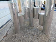 Paul Mayen Stunning Paul Mayen Habitat Aluminum Cylinder Coffee Table Mid Century Modern - 1550559
