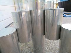 Paul Mayen Stunning Paul Mayen Habitat Aluminum Cylinder Coffee Table Mid Century Modern - 1550560