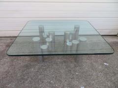 Paul Mayen Stunning Paul Mayen Habitat Aluminum Cylinder Coffee Table Mid Century Modern - 1550565