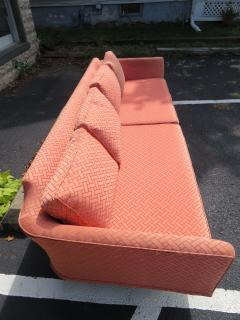 Paul McCobb Elegant Paul McCobb Style Brass Base Sofa Mid Century Modern - 1138721