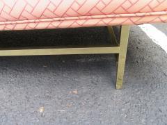Paul McCobb Elegant Paul McCobb Style Brass Base Sofa Mid Century Modern - 1138725