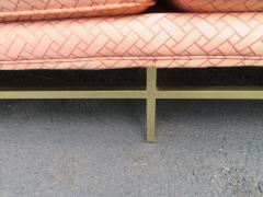 Paul McCobb Elegant Paul McCobb Style Brass Base Sofa Mid Century Modern - 1138727