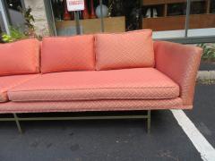 Paul McCobb Elegant Paul McCobb Style Brass Base Sofa Mid Century Modern - 1138728