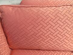 Paul McCobb Elegant Paul McCobb Style Brass Base Sofa Mid Century Modern - 1138731