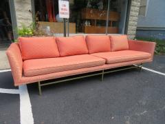 Paul McCobb Elegant Paul McCobb Style Brass Base Sofa Mid Century Modern - 1138732
