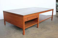 Paul McCobb Leather Top Coffee Table by Paul McCobb for Calvin Group - 793748