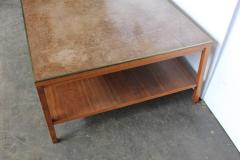 Paul McCobb Leather Top Coffee Table by Paul McCobb for Calvin Group - 793749