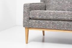Paul McCobb Newly Upholstered Wingback Sofa 1307 by Paul McCobb for Directional US 1950s - 1504809