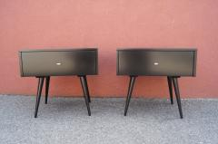 Paul McCobb Pair of Ebonized Planner Group Side Tables by Paul McCobb for Winchendon - 1433993