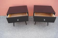 Paul McCobb Pair of Ebonized Planner Group Side Tables by Paul McCobb for Winchendon - 1433994