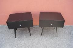 Paul McCobb Pair of Ebonized Planner Group Side Tables by Paul McCobb for Winchendon - 1433995