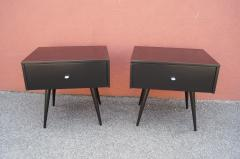 Paul McCobb Pair of Ebonized Planner Group Side Tables by Paul McCobb for Winchendon - 1433996