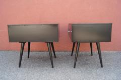 Paul McCobb Pair of Ebonized Planner Group Side Tables by Paul McCobb for Winchendon - 1433997