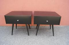 Paul McCobb Pair of Ebonized Planner Group Side Tables by Paul McCobb for Winchendon - 1433998