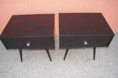 Paul McCobb Pair of Ebonized Planner Group Side Tables by Paul McCobb for Winchendon - 1433999