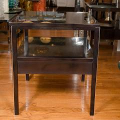 Paul McCobb Pair of Lacquered Wood Tables with Chrome Details by Paul McCobb - 381336