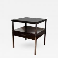 Paul McCobb Pair of Lacquered Wood Tables with Chrome Details by Paul McCobb - 385860