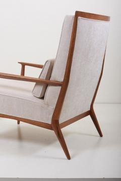 Paul McCobb Pair of Lounge Chairs with an Ottoman by Paul McCobb for Directional US 1950s - 1128304