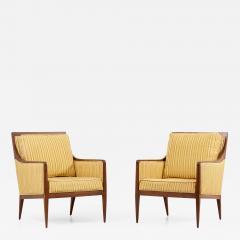 Paul McCobb Pair of Paul McCobb Lounge or Arm Chairs for Calvin USA 1950s - 2119733