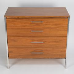 Paul McCobb Pair of Paul McCobb for Calvin dressers in walnut and aluminum circa 1960s - 1064433