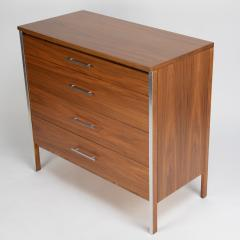 Paul McCobb Pair of Paul McCobb for Calvin dressers in walnut and aluminum circa 1960s - 1064435