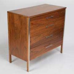 Paul McCobb Pair of Paul McCobb for Calvin dressers in walnut and aluminum circa 1960s - 1064440