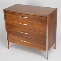 Paul McCobb Pair of Paul McCobb for Calvin dressers in walnut and aluminum circa 1960s - 1064441