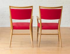 Paul McCobb Paul McCobb Pair of Red Upholstered Armchairs - 1972375