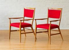 Paul McCobb Paul McCobb Pair of Red Upholstered Armchairs - 1972376