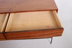 Paul McCobb Paul McCobb Planner Group Black Walnut and Black Iron Cabinet 1950s - 1760554