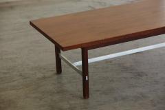 Paul McCobb Paul McCobb Walnut And Aluminum Coffee Table For Calvin  Furniture   298074