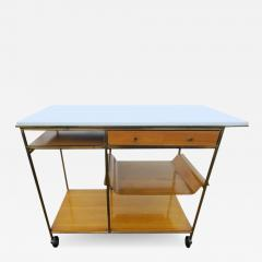 Paul McCobb Paul McCobb for Calvin Vitrolite Top Bar Cart - 1720329