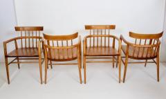 Paul McCobb Set Four Paul McCobb Planner Group Maple Captains Chairs Model 1532 - 1814001