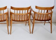 Paul McCobb Set Four Paul McCobb Planner Group Maple Captains Chairs Model 1532 - 1814016