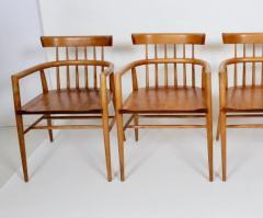 Paul McCobb Set Four Paul McCobb Planner Group Maple Captains Chairs Model 1532 - 1814024
