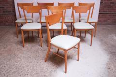 Paul McCobb Set of Eight Stained Maple Dining Chairs by Paul McCobb for Perimeter - 1113932