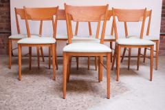 Paul McCobb Set of Eight Stained Maple Dining Chairs by Paul McCobb for Perimeter - 1113934