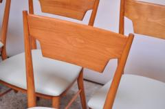 Paul McCobb Set of Eight Stained Maple Dining Chairs by Paul McCobb for Perimeter - 1113939