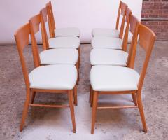 Paul McCobb Set of Eight Stained Maple Dining Chairs by Paul McCobb for Perimeter - 1113942