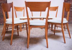Paul McCobb Set of Eight Stained Maple Dining Chairs by Paul McCobb for Perimeter - 1113953