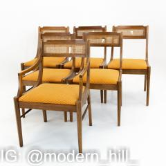 Paul McCobb Style Walnut and Cane Dining Chairs Set of 6 - 1870046