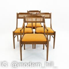 Paul McCobb Style Walnut and Cane Dining Chairs Set of 6 - 1870047