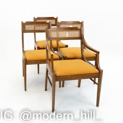 Paul McCobb Style Walnut and Cane Dining Chairs Set of 6 - 1870048