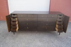 Paul McCobb Twenty Drawer Ebonized Dresser by Paul McCobb for Rapids Furniture - 2115642