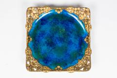 Paul Millet Platter with Gilt Metal Surround by Paul Millet for Sevres - 426355