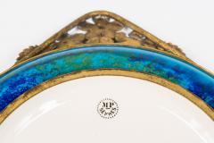 Paul Millet Platter with Gilt Metal Surround by Paul Millet for Sevres - 426356