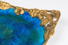 Paul Millet Platter with Gilt Metal Surround by Paul Millet for Sevres - 426357