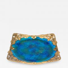 Paul Millet Platter with Gilt Metal Surround by Paul Millet for Sevres - 429296
