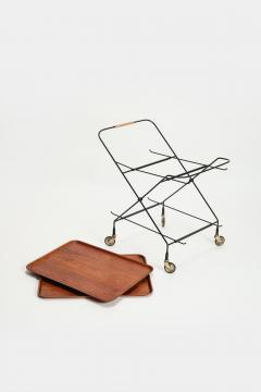 Paul Nage Design Trolley with wheels JIE Gantofta Sweden - 2016274